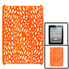 Orange Red Cut Out Hard Plastic Back Cover Shell for iPad 2 3