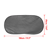 100 x 50cm Auto Car Foldable Side Window Screen Meshy Sunshade Covering