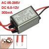 AC 85-265V DC 6.0-12V 300mA Power Supply Adapter for 3x1W LED Lig...