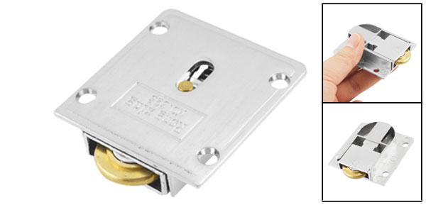 20mm Diameter Gold Tone Metal Wheel Wardrobe Sliding Door Roller