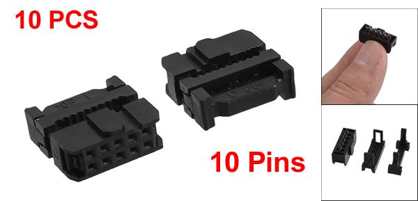 10 Pcs 10 Position Female IDC Socket Flat Ribbon Cable Connectors FC-10P