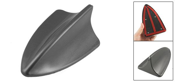 Car Shark Fin Shaped Adhesive Antenna Ornament Dark Gray