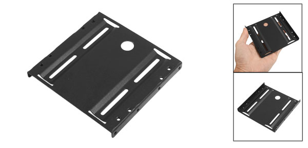 Metal 2.5 Inch to 3.5 Inch ATX SSD Mounting Adapter Bracket Holder Black