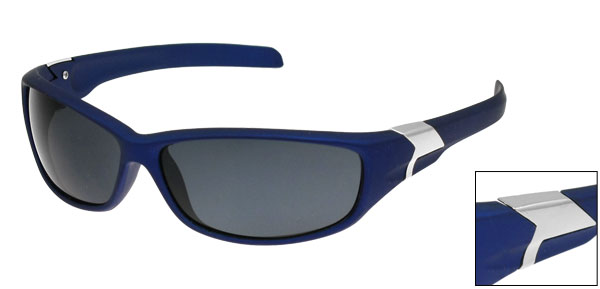 Blue Full Rim Single Bridge Protective Sports Sunglasses for Men