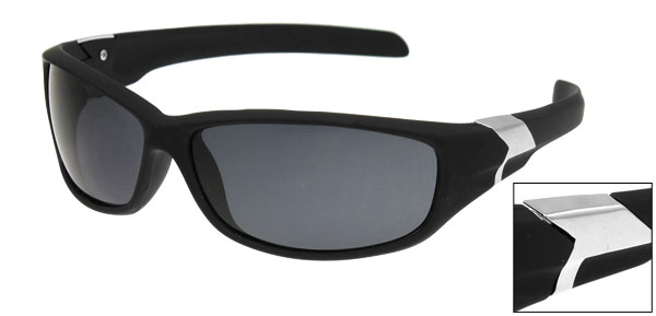 Black Full Rim Single Bridge Protection Sports Sunglasses for Men