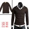 Men Coffee Color Long Sleeve Pullover So...