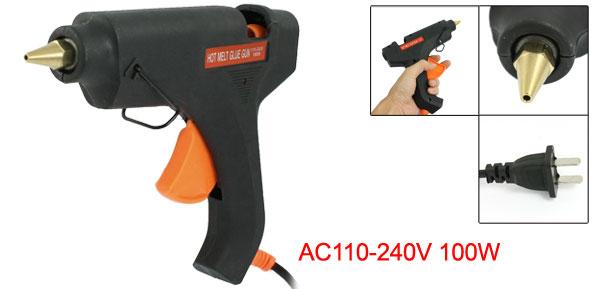 US Plug AC 110-240V 110W Hot Melt Glue Gun Orange Black