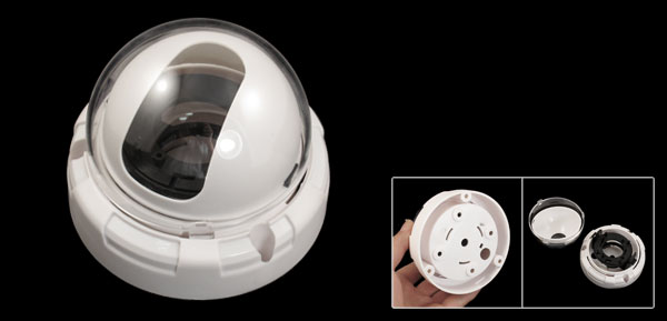 White Plastic Indoor Housing Enclosure Case for CCTV Security Dome Camera