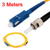 9.8ft ST to SC Fiber Patch Cord Jumper Cable SM Simplex