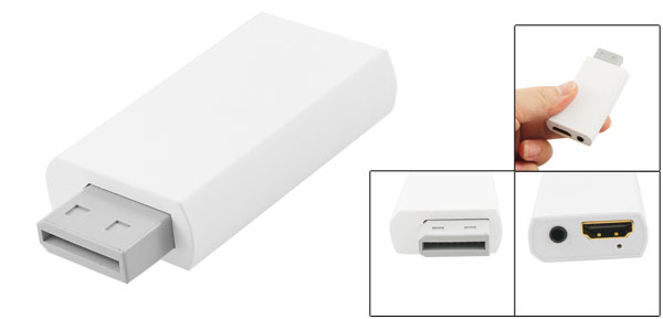 White WII to HDMI Connecting Adapter 1080P- HDV G100