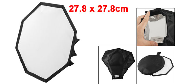 Portable Octangle Shape Black Soft Box Flash Diffuser for Digital SLR Camera