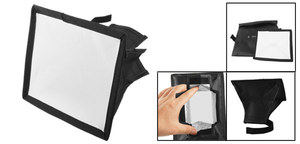 Black Soft Box Flash Diffuser 15 x 17cm for Digital SLR Camera