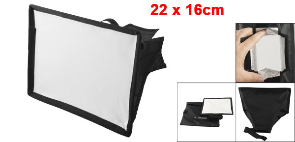 Black Portable Soft Box Flash Diffuser 22 x 16cm for Digital SLR Camera