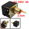 AC 220V 3A SPDT 26mm Thread Black Shell Water Flow Paddle Control...