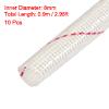 "10 Pcs 0.9M 35.4"" Long 8mm Dia Electrical Wire Fiberglass Insulat..."
