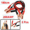2 Pcs Alligator Battery Booster Clips Jumper Cable 200AMP Red Bla...