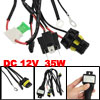 DC 12V HID Xenon H4-3 Hi/Lo Controller Relay Harness Wires 35W