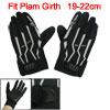 Men Black Nonslip Sponge Palm Mountain Bike Full Finger Gloves