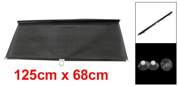 125cm x 58cm Dotted Vinyl Sun Shade w 3 Suction Cups for Car Window