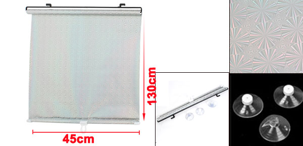 Silver Tone 48cm x 135cm Auto Car Window Windshield Sun Shade Visor