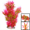 "Pink Green Slender Leaves Plastic Aquarium Decorative Plant 15.7""..."