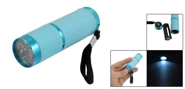 Hiking 9 White LEDs Light Hand Pressing Flashlight W Cord