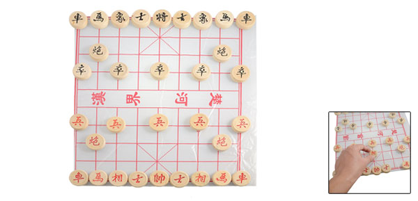 28mm x 9mm Wooden Traditional Games Xiangqi Chinese Chess