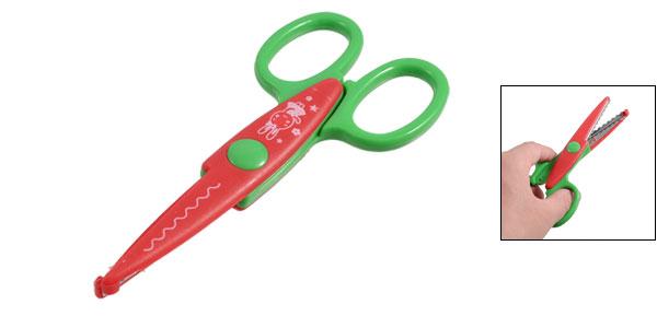 Scalloped Blade Scrapbook Paper Cutting Decorative Scissors Red Green