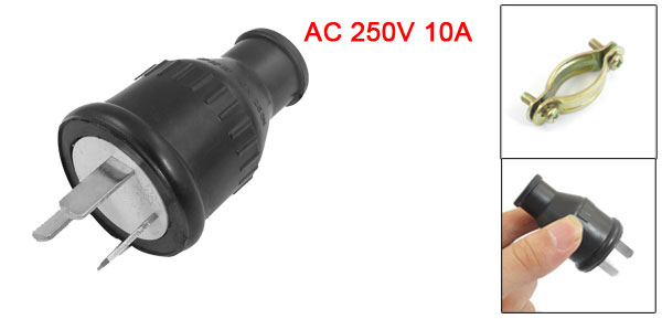 AU Plug AC 250V 10A Water Blast Resistance Adapter w Clamp