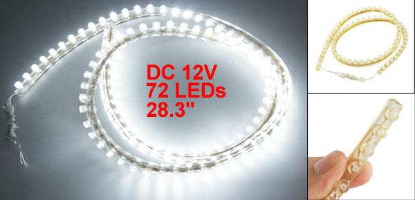 DC 12V 72 LED White Lamp Flexible Light Bar 72cm for Car Auto