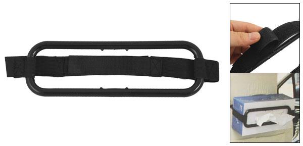 Vehicle Car Sun Visor Seat Back Black Plastic Tissue Paper Box Holder