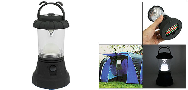 Black Clear Shell White 11 LED Bivouac Camping Light Lamp Lantern