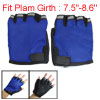 Sapphire Blue Fingerless Hook Loop Fastener Gloves for Men