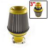 Yellow Adjustable Hose Clamp Conical Mesh Car Truck Air Filter 76...