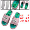 Pair Striped Health Care Foot Acupoint Massage Flat Slippers for ...
