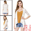 Allegra K Women 3/4 Sleeves Casual Lace Open Front Cardigan White...