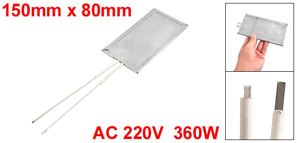 AC220V Nylon Coated Wires Stainless Steel Heating Board 360W 150mm x 80mm