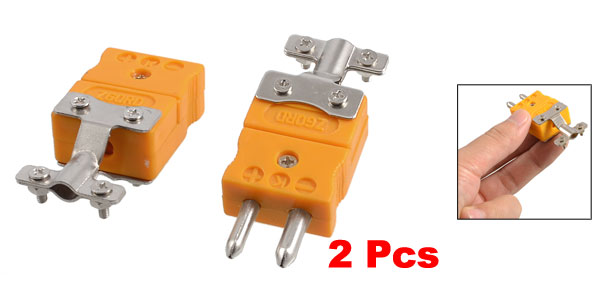 Pair Male to Female Connector K Type Thermocouple Sockets New