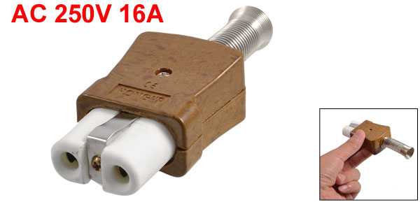 Electric Heater Brown Shell 6mm Diameter Ceramic Connector AC 250V 16A
