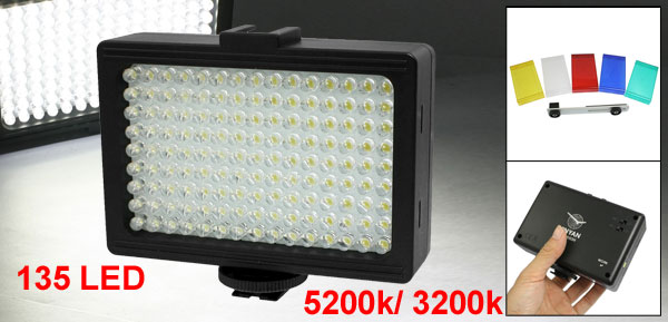 Photography DV Camcorder VD-880H 5200k 3200k 135 LED Video Light