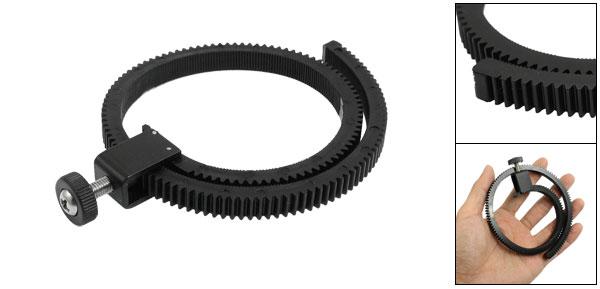 Camera Photograph Flexible DSLR Lens Follow Focus Gear Ring Belt Black