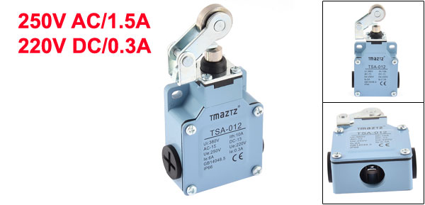 Momentary 1NO 1NC Rolling Cam Limit Switch 250VAC/1.5A 220VDC/0.3A TSA-012