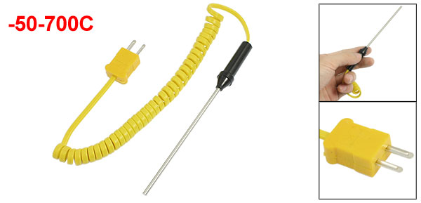 -50-500 Celsius K Type 1.5M Length Temperature Sensor Thermocouple Probe