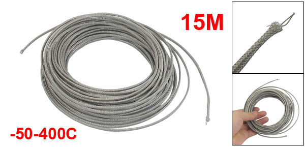 -50-400C 15M Thermocouple Temperature Sensor Wire Cable