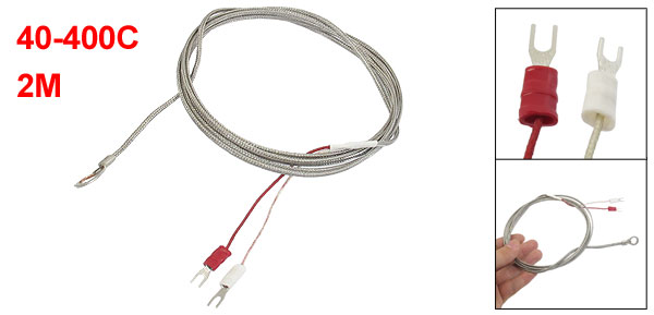 40-400C 7.8mm Probe Ring K Type Thermocouple Temperature Sensor