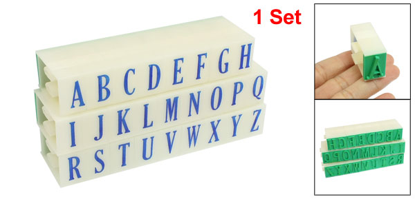 26 in 1 Beige Detachable English Letters A-Z Alphabet Stamp