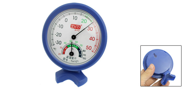 TH101 Blue Plastic Shell Round Dial -35 to 50 Celsius Thermometer Hygrometer