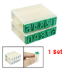 10 Pcs Beige Plastic 0-9 Digits Arabic Numerals Stamp Set