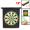 "Black 17"" x 15"" Scroll Design Magnet Dart Board Dartboard Toy"