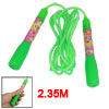 Green Nonslip Handle Plastic Rope Sports Jumping Skipping